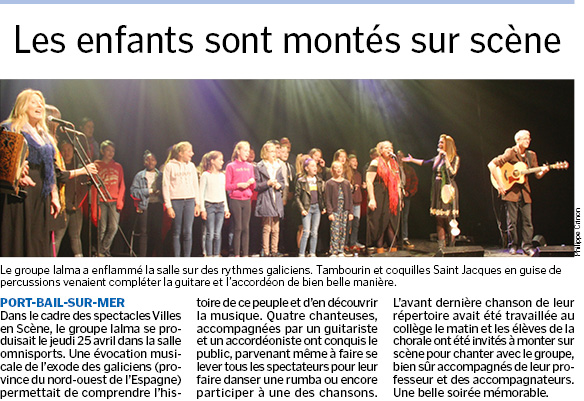 Article concert Ialma